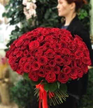 101 роза - доставка цветов
