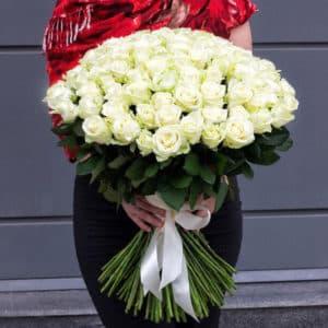 """Доставка """"51 белой rose премиум"""""""
