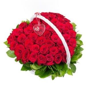 роза в форме сердца