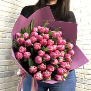 """"""" Заказать цветы """" 51 пионовидный тюльпан"""