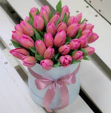коробка тюльпанов 35 шт