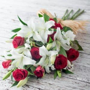 Розы с лилиями 2