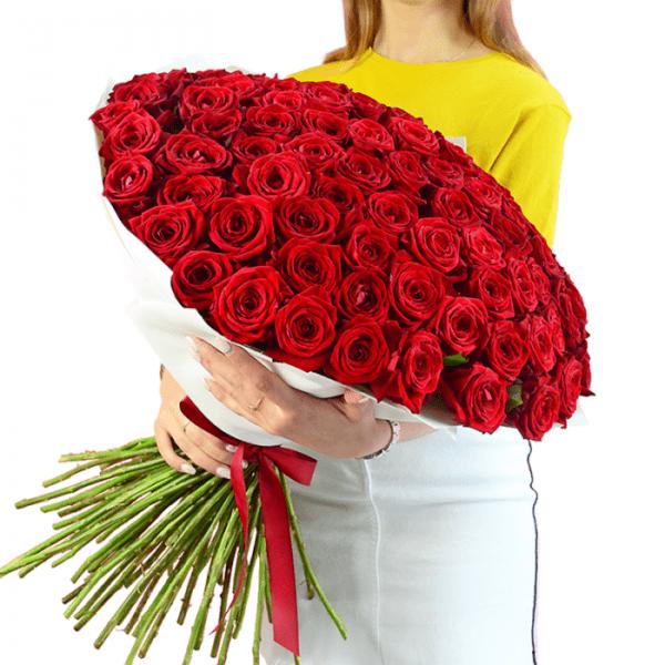 Букет красных роз