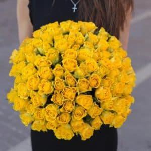 101 Желтая роза (40 см.)