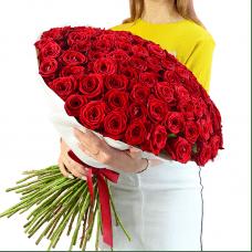 101 красная роза в сизали