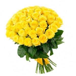 51 Желтая Роза Эквадор (60 см.)