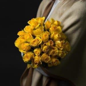 25 Желтых Роз (40 см.)