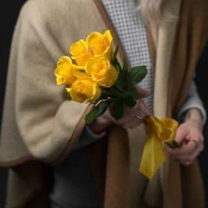 5 Желтых Роз Эквадор (60 см.)