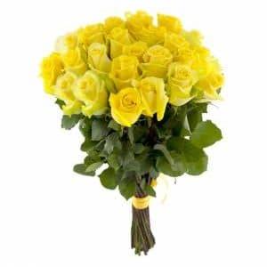 25 Желтых Роз Эквадор (60 см.)