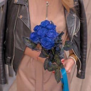 7 Синих Роз (70 см.)