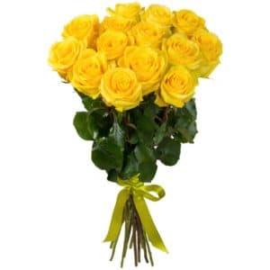 25 Желтых Роз Эквадор (70 см.)