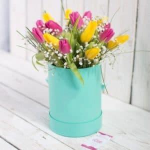15 микс тюльпанов