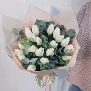 Тюльпаны эвкалипт упаковка