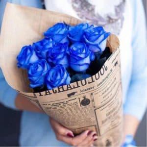 9 синих роз