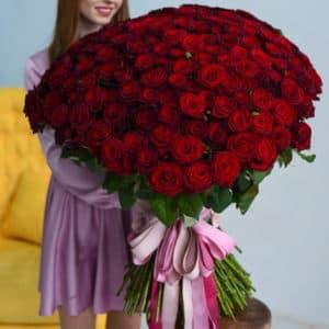 """Купить цветы с доставкой """"201 красная роза для любимой"""""""