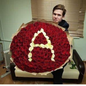 201 роза с буквой
