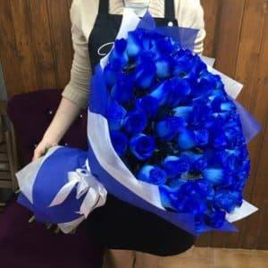 75 синих роз