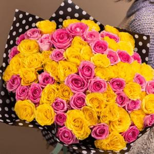71 желтая и розовая роза