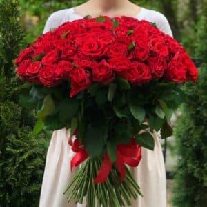 Букет 101 красная роза Эль Торо