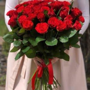 """Розы в коробке """"Багряное сердце"""""""