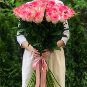 Букет 51 роза Джумилия Премиум, 80 см
