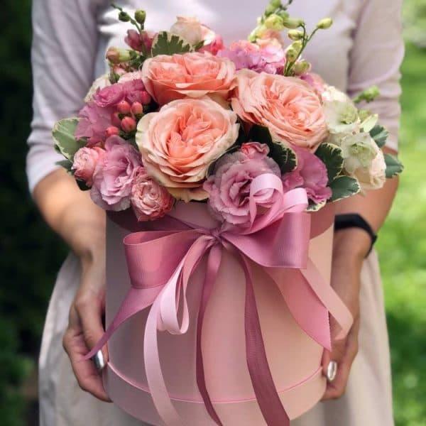 """Цветы в коробке """"Ласковое утро"""""""