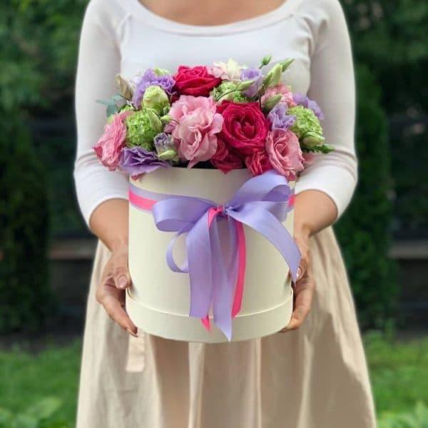 """Цветы в коробке """"Любуюсь тобой"""""""