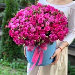 """Цветы в коробке """"Розовые сны"""""""