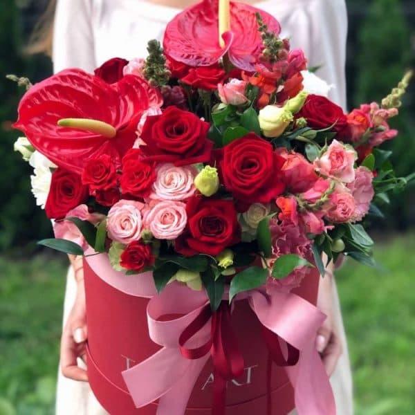 """Цветы в коробке """"Счастливый день"""""""