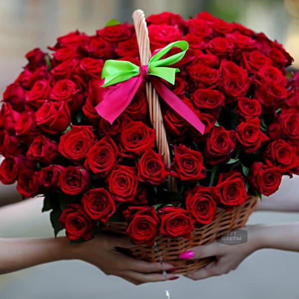 Корзина роза