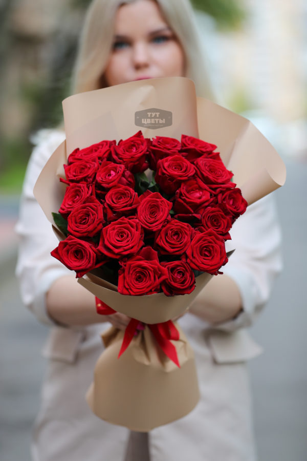 """Доставка """"21 красной розы премиум"""""""