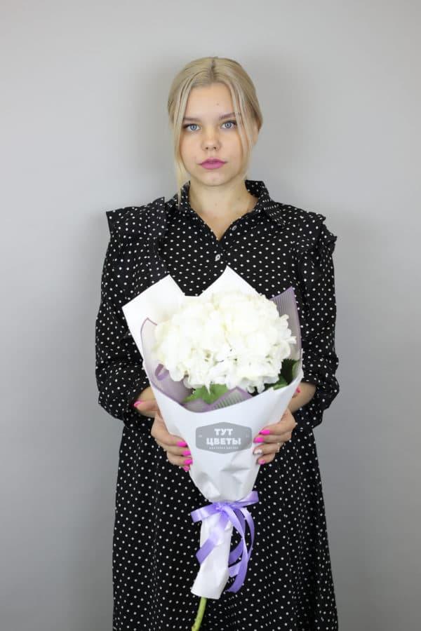 """Букет цветов """"Белоснежная гортензия"""""""