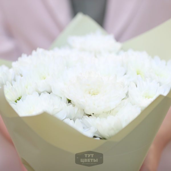 """Доставка цветов """"Белоснежные кустовые хризантемы"""""""