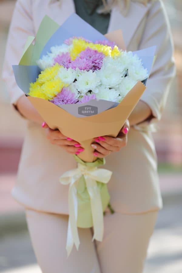 """Цветы с доставкой """"Микс кустовой хризантемы"""""""