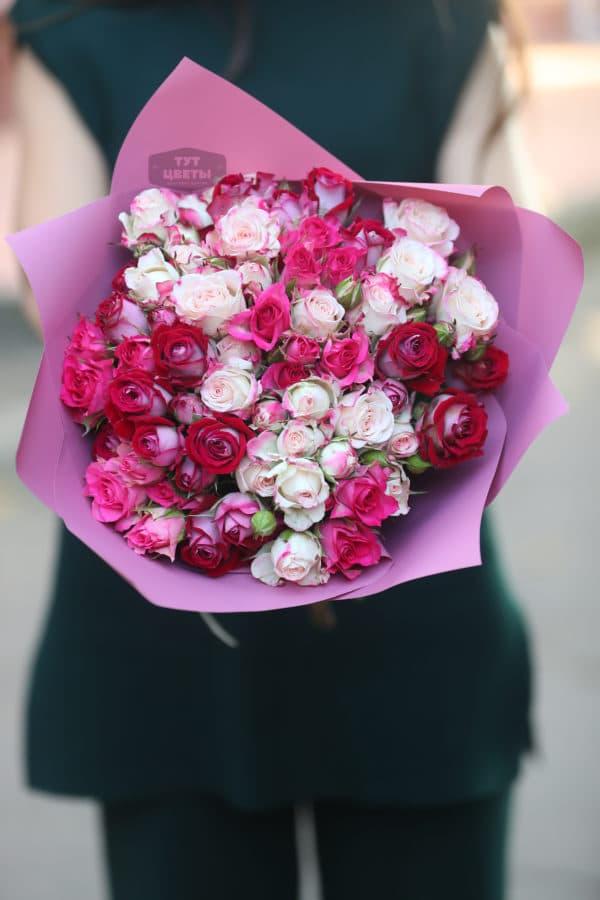 """Доставка цветов """"Нежно-розовые кустовые розочки"""""""