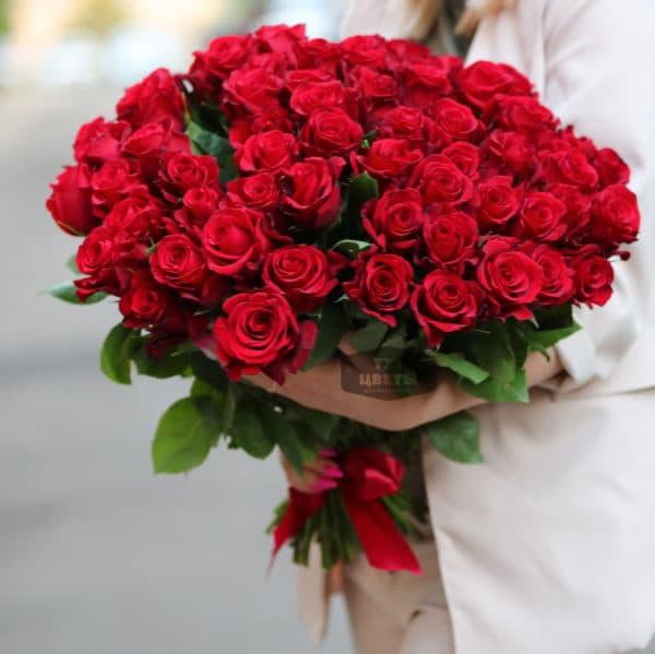 75 красных роз Эквадор