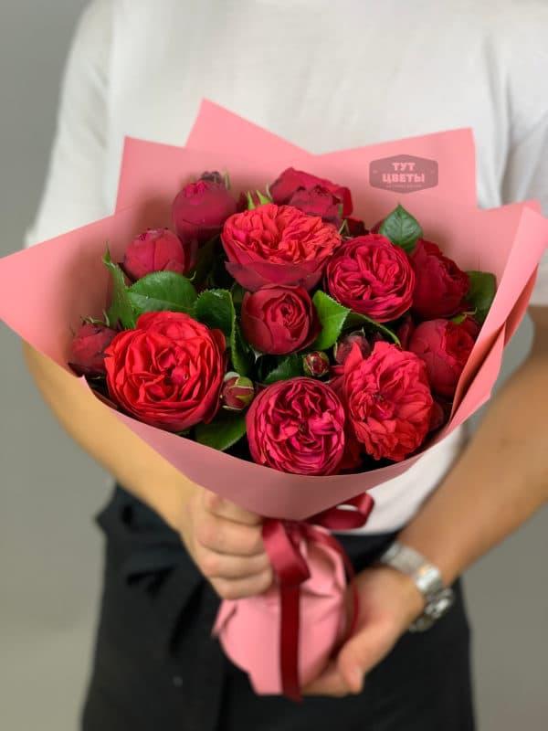 """Доставка цветов """" Бордовый шарм"""""""