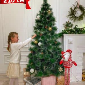 Ёлка искусственная / Новогодняя елка / Пушистая елка на Новый год, 210 см