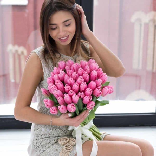 """Доставка цветов """"51 голландский тюльпан премиум"""""""