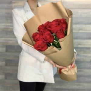 9 роз премиум плантации с доставкой