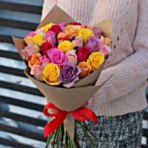 21 роза Кенийская роза с доставкой