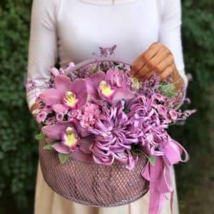 """Цветы в корзине """"Утреннее сияние"""""""