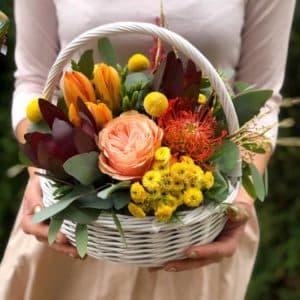 """Цветы в корзине """"Загадочный миг"""""""