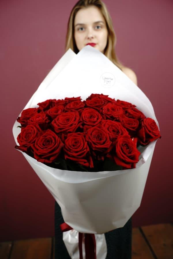 25 красных poз сорта Рэд Наоми (Голландия)