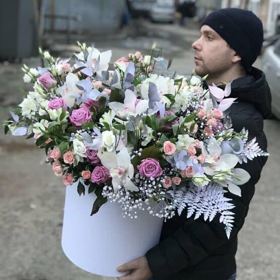 Большая коробка цветов «Амалия»