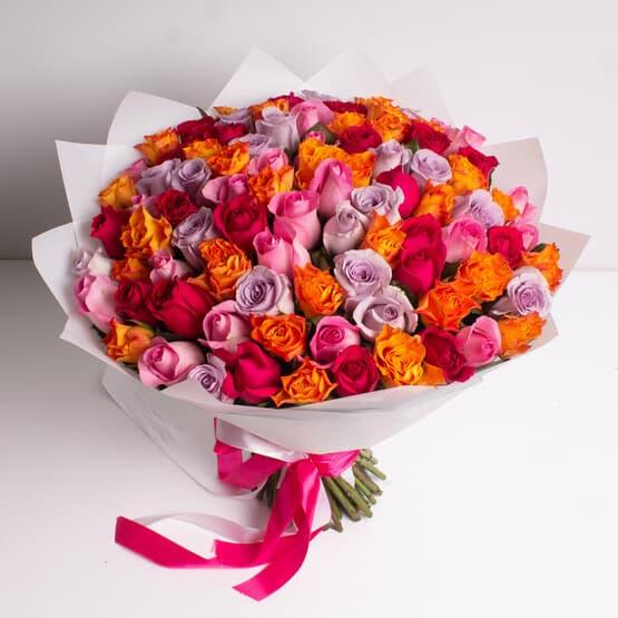 Букет из 101 роз (40см)