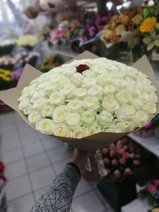 Букет из 101 розы в любое время года
