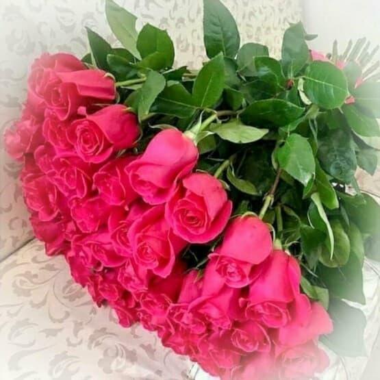 Букет из 35 малиновых роз