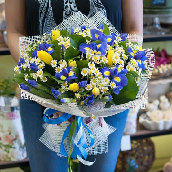 Букет цветов Цитрусовые нотки