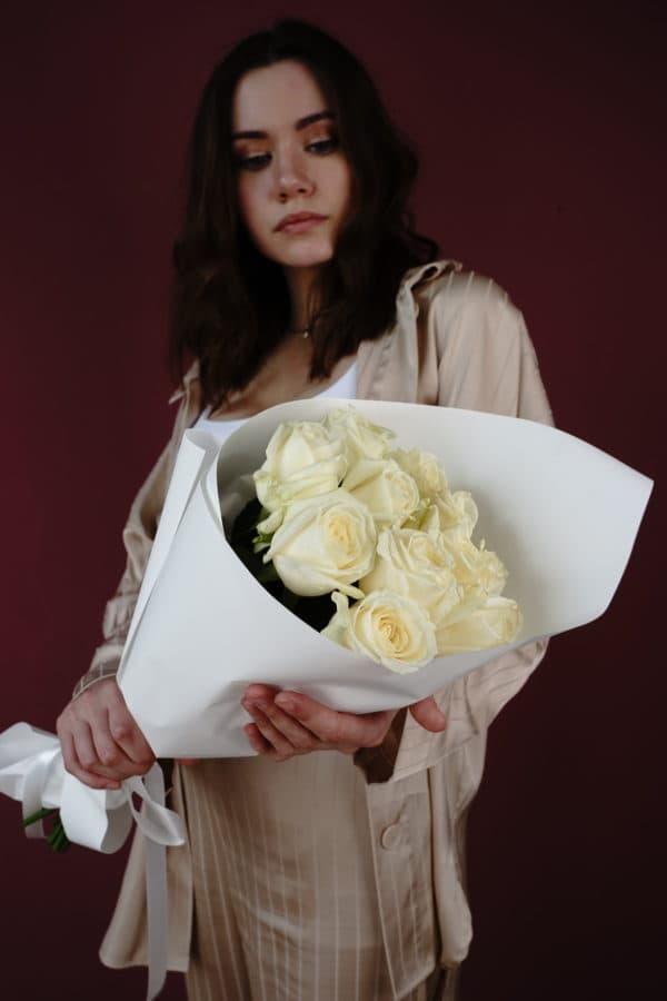 11 российская роза (Аваланч) белая